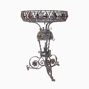 Antique Iron Planter by Alessandro Mazzucotelli, 1900s