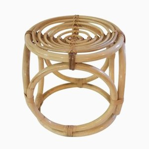 French Bamboo Stool, 1970s