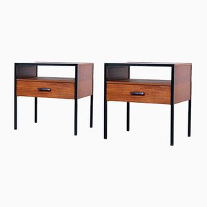 Vintage Carrella Teak Nightstands from Auping, 1960s, Set of 2