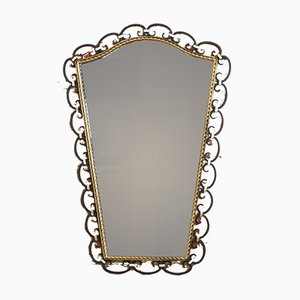Mid-Century Wrought Iron Mirror, 1950s
