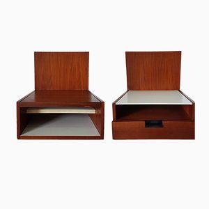 Tables de Chevet Murales par Cees Braakman pour Pastoe, 1960s, Set de 2