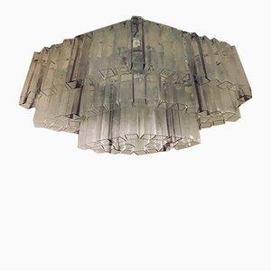 Großer Mid-Century Murano Glas Kronleuchter von Veart für Venini