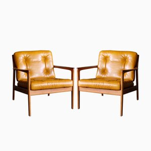 USA-75 Armchairs by Folke Ohlsson for Dux, 1950s, Set of 2