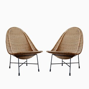 Stora Kraal Lounge Chairs by Kerstin Hörlin-Holmquist for Nordiska Kompaniet, 1950s, Set of 2