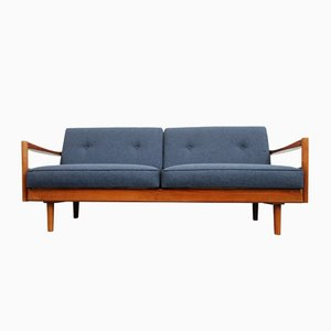 German Blue 2-Seater Sofa, 1960s
