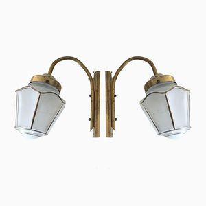 Brass Lantern Sconces, 1960s, Set of 2