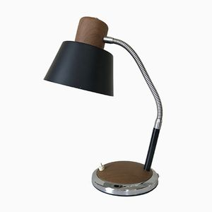 Metal & Teak Desk Lamp, 1960s