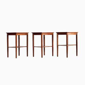 Tables de Chevet de Søborg Møbler, 1950s, Set de 3