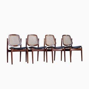 Dänische Stühle von Arne Vodder für France & Søn, 1960er, 4er Set