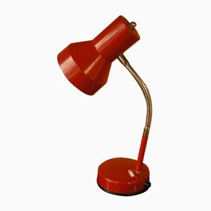 Rote Vintage Tischlampe von Veneta Lumi
