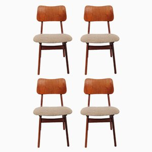 Niederländische Esszimmerstühle von Louis van Teeffelen für WéBé, 1950er, 4er Set