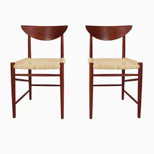 Model 316 Chairs by Peter Hvidt & Orla Mølgaard-Nielsen for Søborg, 1950s, Set of 2