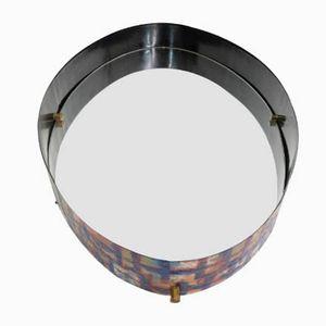 Bunter Emaille Metall Spiegel von Laurana, 1950er