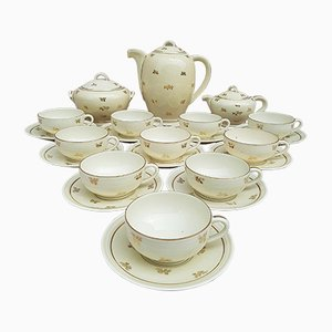Limoges Porcelain Coffee Service from Alfred Lanternier, 1920s