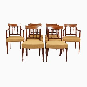 Antique George III Dining Chairs, Set of 8