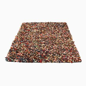 Multi-Colored Rug with Deep Pile, 1970s