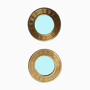 Vintage Spiegel mit goldenen Rahmen, 2er Set