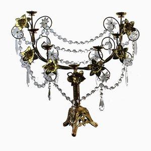 Art Nouveau Gilded Brass Candleholder