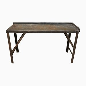 Vintage Industrial Steel Table, 1950s