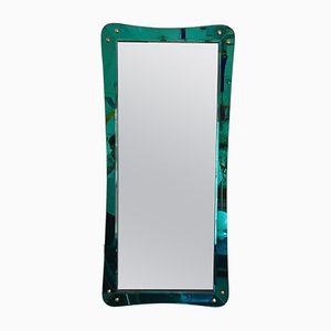 Italienischer Spiegel mit Glasrahmen von Cristal Art, 1960er