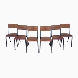 NDS Chairs by Jacques Hitier for Tubauto, 1950s, Set of 6