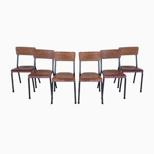 NDS Chairs von Jacques Hitier für Tubauto, 1950er, 6er Set