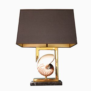 Lampe de Table Nautilus Shell en Laiton, 1970s
