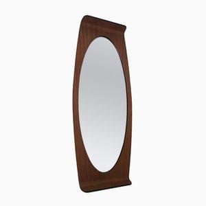 Miroir Ovale en Contreplaqué par Campo e Graffi pour Home Italie, 1950s