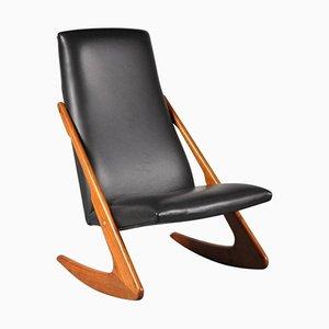 Rocking Chair Boomerang de Mogens Kold, 1960s