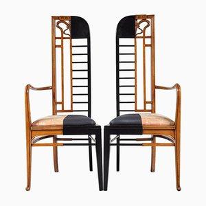 Niederländische Stühle, 1980er, 2er Set