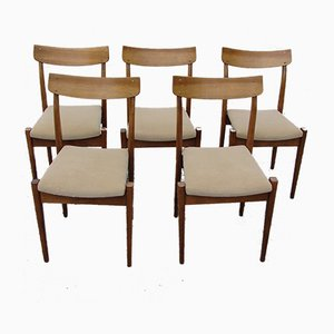Model 200-206 Polish Dining Chairs from Fabryka Mebli Giętych, 1960s, Set of 5