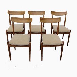Polnische Modell 200-206 Esszimmerstühle von Fabryka Mebli Giętych, 1960er, 5er Set