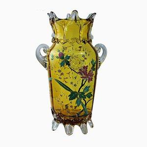 Vase Antique en Verre de Moser