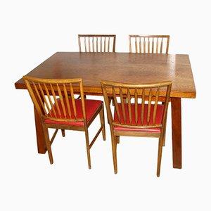 Tisch & 4 Stühle, 1960er
