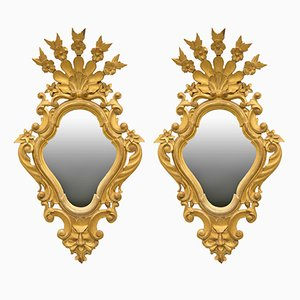 19th Century Gilt Wooden Mirrors, Set of 2