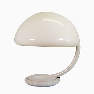 Model Serpente White Lamp by Elio Martinelli for Martinelli Luce, 1960s
