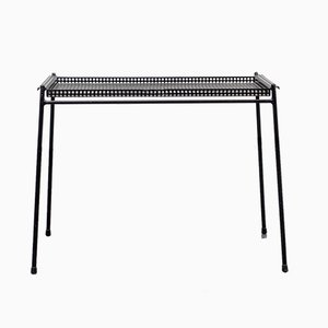 Perforated Metal Side Table, 1950s