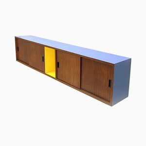 Mid-Century Italian Teak and Colored Formica Sideboard, 1960s