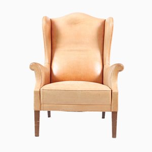 Leather & Rosewood Wingback Armchair by Eran, 1960s