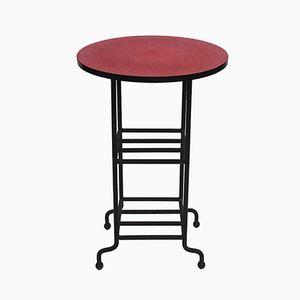 Tisch aus Gusseisen & Resopal. 1950er