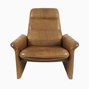 Buffalo Leather Lounge Chair from de Sede, 1970s