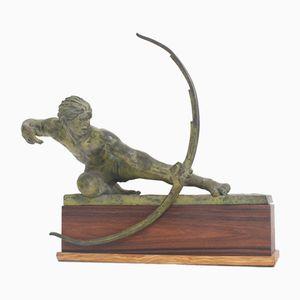 Antike Bogenschützen Skulptur von Alexandre Kelety