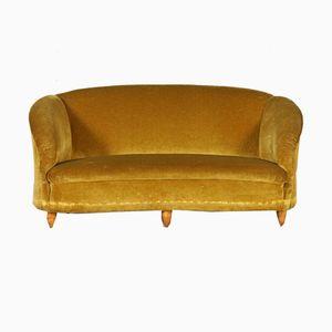 Vintage Italian Velvet 2-Seater Sofa
