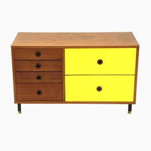 Mid-Century Italian Teak and Yellow Formica Sideboard, 1960s