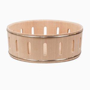 Stilio Flat Hinoki Cypress Basket by Buzzo-Lambertoni for Hands on Design