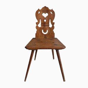 Französische Vintage Stuhl im rustikalen Stil