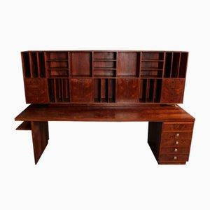 Danish Rosewood Workstation Desk, 1970s