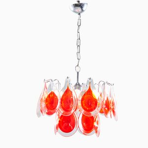 Italian Murano Glass Ceiling Lamp by Gino Vistosi, 1960s