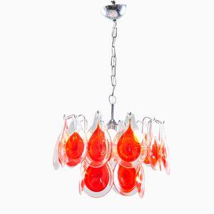 Italienische Murano Glas Deckenlampe von Gino Vistosi, 1960er