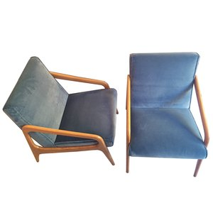 Small French Dorian Armchairs from Stella, 1950s, Set of 2